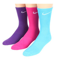 Nike Youth Girls' Lightweight Cotton Cushion Moisture Management Crew 3-Pair Pack