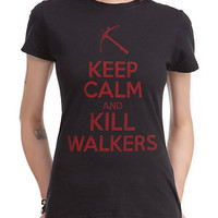 The Walking Dead Keep Calm And Kill Walkers Girls T-Shirt