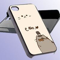 Custom Phone Case Pusheen The Cat For iPhone 5, iPhone 4, iPhone 4s, Samsung Galaxy S3, Samsung Galaxy S4, Hard Cover