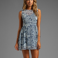 DV by Dolce Vita Eniko Lace Print Dress in Blue Print