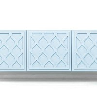 www.roomservicestore.com - Santorini 3 Door Credenza in Ice Blue