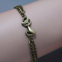 Cat bracelet, Dainty bracelet,Friendship gift