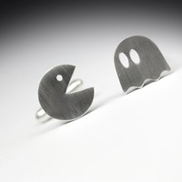 Supermarket: PACMAN cufflinks - sterling silver (925) from FeinFein Studio
