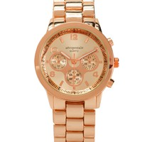 Metallic Rose Boyfriend Watch
