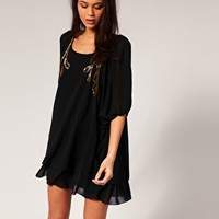 TFNC | TFNC Dress With Beading And Layered Hem at ASOS