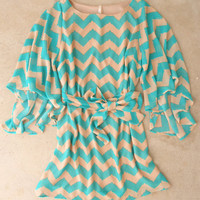 Teal Waves Dress