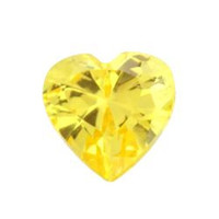 November Gold Topaz CZ Heart Locket Charm for Locket Necklace or Bracelet (HH1000-11)