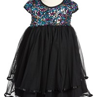 Pippa & Julie Sequin Tiered Tulle Dress (Toddler Girls) | Nordstrom