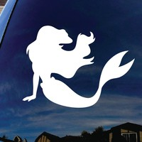 "Little Mermaid Ariel Car Window Vinyl Decal Sticker 4"" Wide"