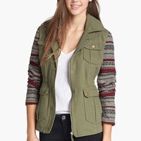 Jack Knit Sleeve Jacket (Juniors) | Nordstrom