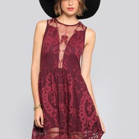 Lace Lulu Dress - Wine - Dresses - Clothes | GYPSY WARRIOR