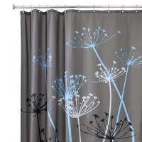 "InterDesign Thistle Shower Curtain - Gray/Blue (72x72"")"