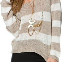 EVANGELINA STRIPE SWEATER