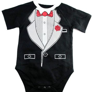 Okutani Tuxedo Onesuit Kids Clothing at Broken Cherry