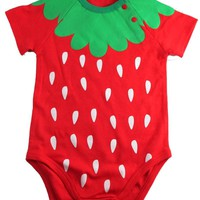 Okutani Strawberry Onesuit Kids Clothing at Broken Cherry