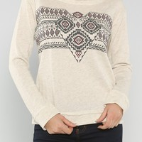 Tribal Terry Sweater, Cream