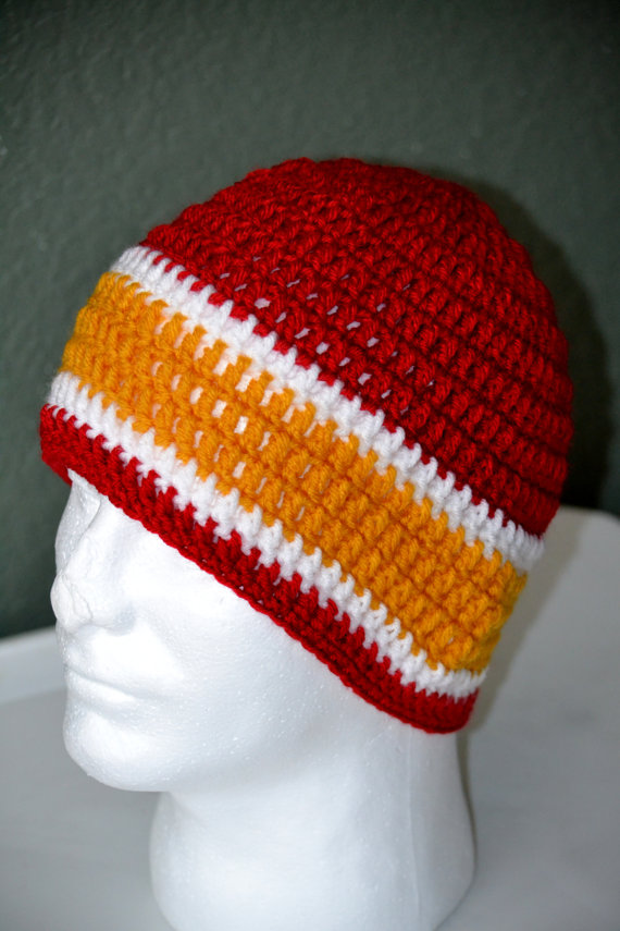 Crochet Pattern Kansas City Chiefs Afghan : KC Chiefs Crochet Skull cap. KC Chiefs from AfricanCrab ...