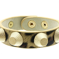 CHEETAH STUDDED CUFF