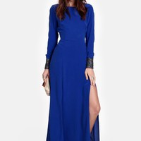 Aquitaine Deep Slit Maxi Dress By Line & Dot