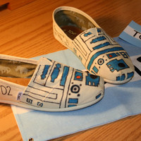 Custom R2D2 TOMs shoes Made to order Pick your own by LaurensToms