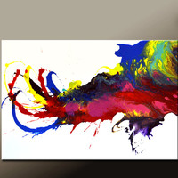 Abstract Canvas Art Painting 36x24 Original Modern Contemporary Paintings by Destiny Womack - dWo - Playful Thoughts