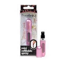 Travalo Easy Refill Travel Perfume Atomizer Spray Bottle (Pink)