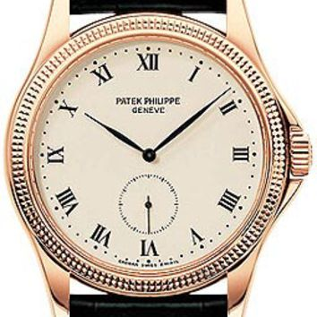 Patek Philippe Calatrava 18kt Rose Gold Mens Watch 5115R