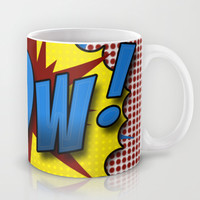 Pop Art Pow in comic Lichtenstein style Mug by Suzanne Barber