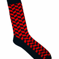Deadstock Navy / Red Socks