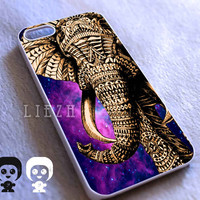 Elephant Aztec Nebula for Iphone 4/4S case, Iphone 5/5C/5S case, Samsung S3/S4 case cover in Liezh