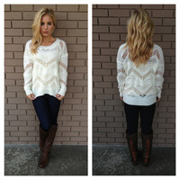 White Winterland Sweater
