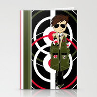 Mod Illustration Stationery Cards by markmurphycreative