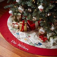 POSTCARD TREE SKIRT