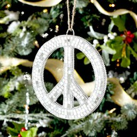 MOSAIC PEACE SIGN ORNAMENT