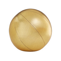 Andrew Yes Gold Pillow Sphere - Round Pillow - ShopBAZAAR