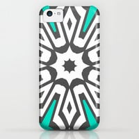 Mod Aqua iPhone & iPod Case by Abstracts by Josrick
