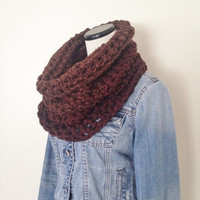 Swiss Chocolate Infinity Scarf - Brown Cowl - Winter Scarf - Fashion Cowl