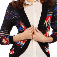 TRIBAL OPEN CARDIGANS