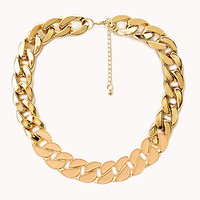 Street Cool Lacquered Chain Necklace