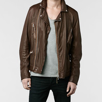AllSaints Hilling Biker Jacket | Mens Leather Biker Jackets