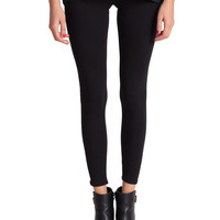 Simple Terry Leggings - Black