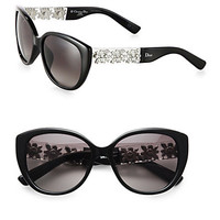 Oversized Metal & Plastic Sunglasses