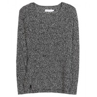 mytheresa.com - Heather metallic open-knit sweater - Luxury Fashion for Women / Designer clothing, shoes, bags