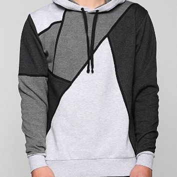 Feathers Colorblock Pullover Hooded Sweatshirt