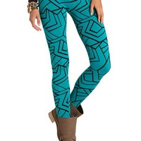 GEOMETRIC PRINT COTTON LEGGING