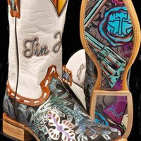 Women's BootsBlue Whip It - Guns & Roses Sole Tin Haul Whip It Gals Boot