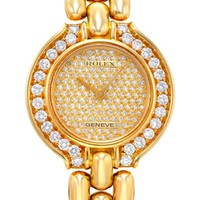 ROLEX Made In Switzerland Diamond 18K Yellow Gold Watch - Rolex - Modnique.com