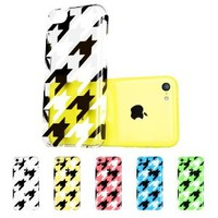 ESR the Beat Series Hard Clear Back Cover Snap on Case for iPhone 5C (Houndstooth)