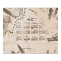 Old Brown Paint 2014 Wall Calendar Poster