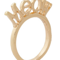 Meow and Forever Ring | Mod Retro Vintage Rings | ModCloth.com